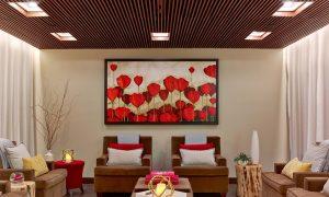 The Red Door Spa Waiting Room